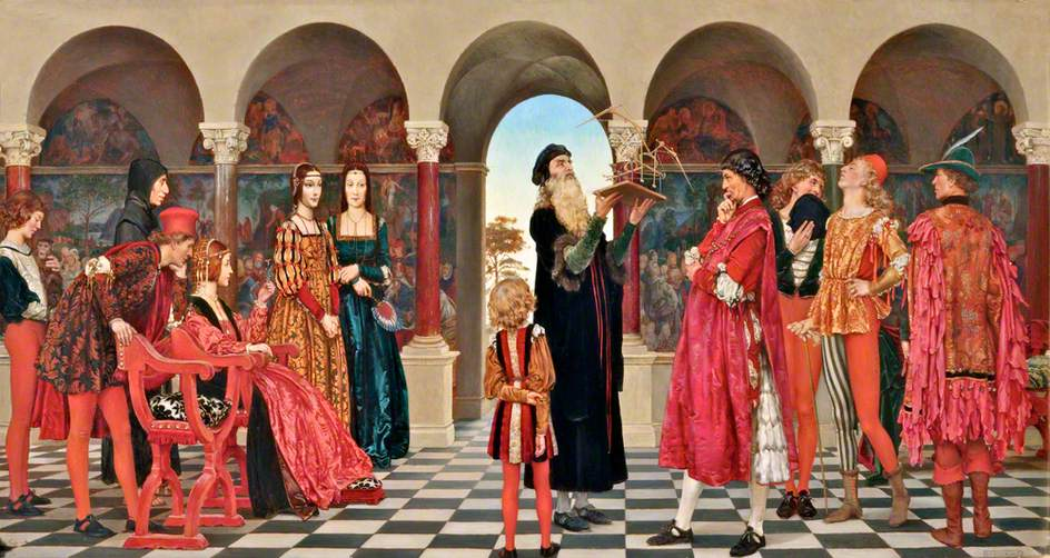 Leonardo da Vinci alla corte di Ludovico il Moro - Eleanor Fortescue-Brickdale