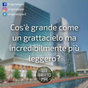 Read more about the article Cos'è grande come un grattacielo ma incredibilmente più leggero?